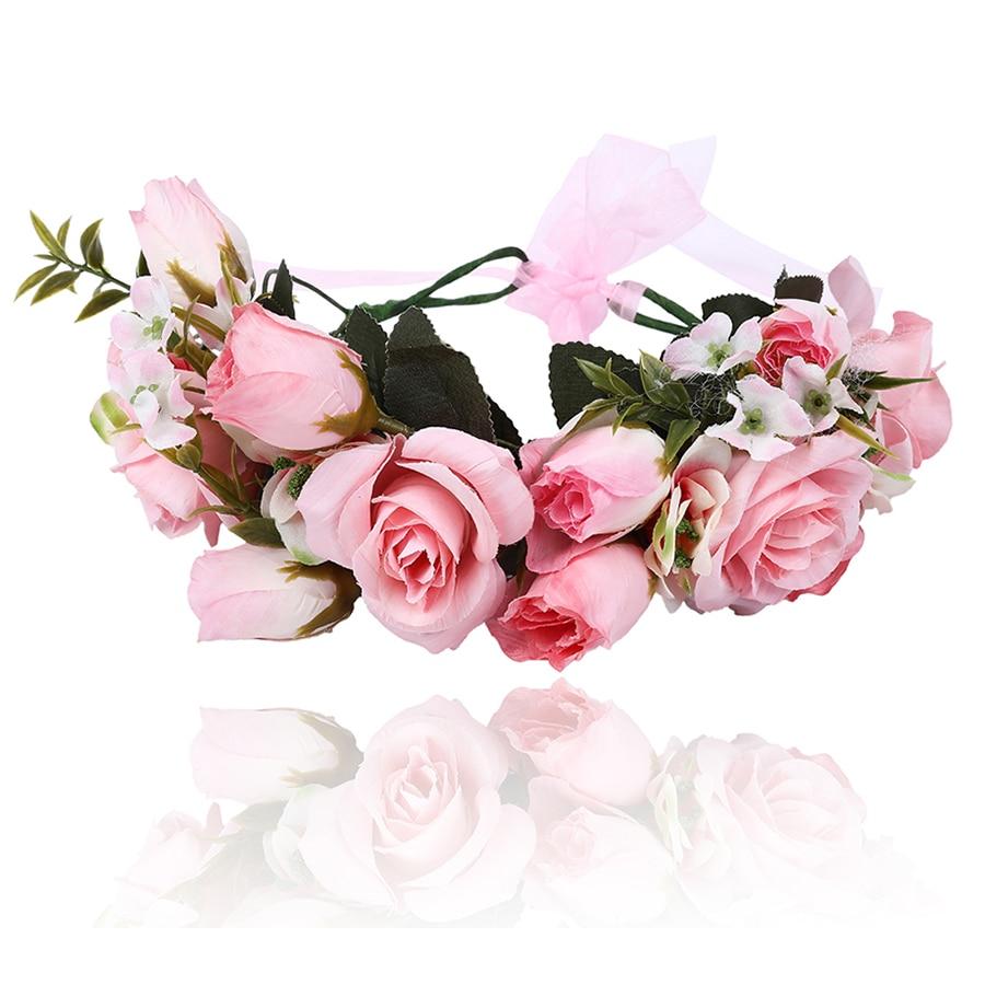 Mori Girl Series Wedding Bridal Girls Accessories Wreath Foam Flower