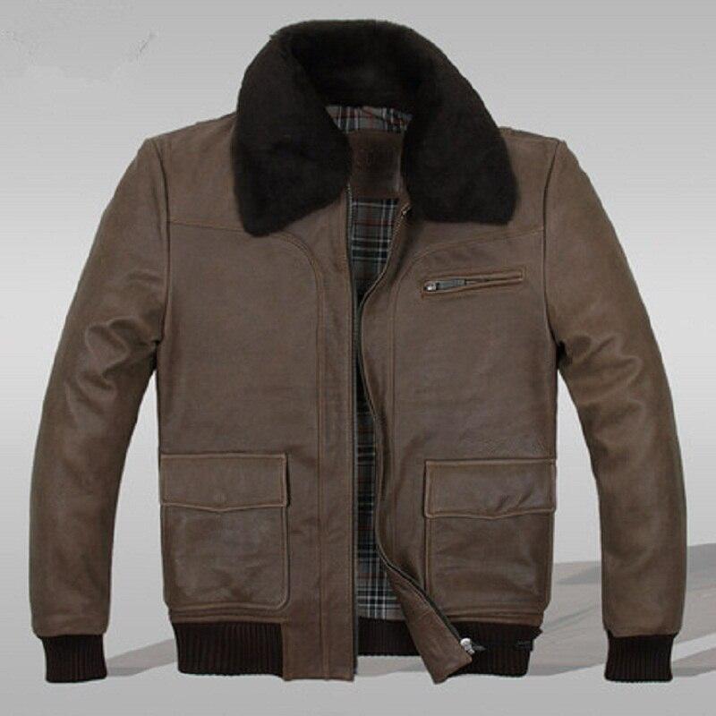 Brown Leather Flight Jacket XKJFGW