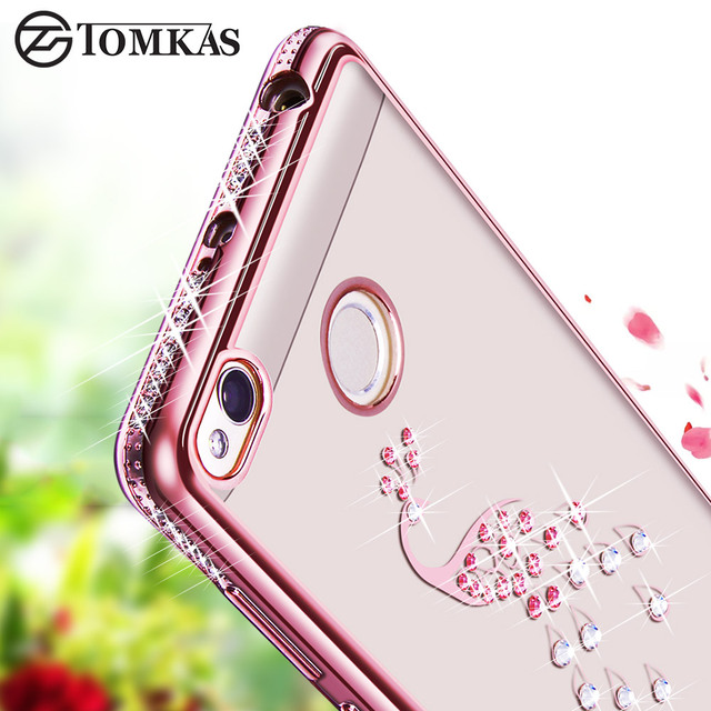 TOMKAS Xiaomi Redmi 3S Case Redmi 3 Pro 3 S Case Cover Soft Silicone Case For Xiaomi Redmi 3S Prime 3 Pro Glitter Diamond Cover
