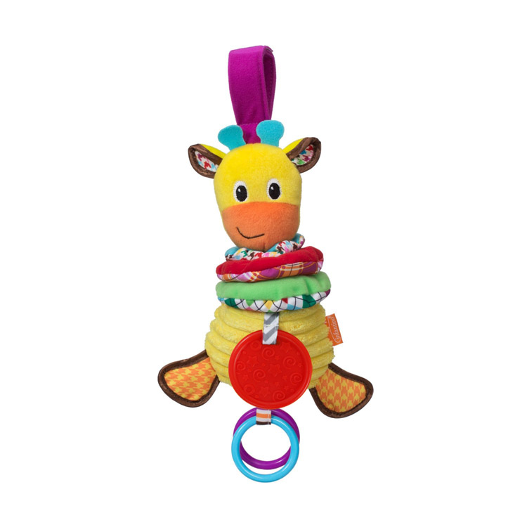 Funny Musical Giraffe 30m Baby Soft Plush Rattles With Teether Multifunctional Bed Car Hang Toys For Kids Children