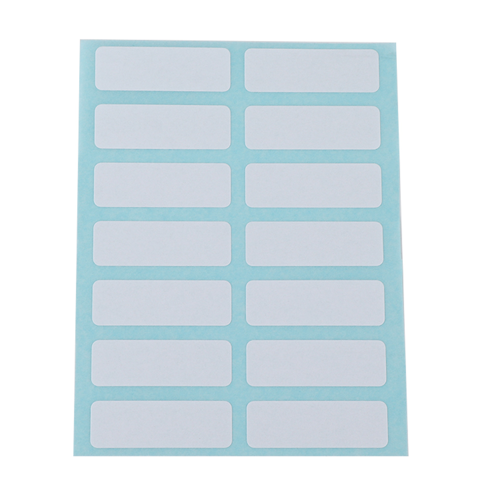 12 Blank Stickers Stationery Labels Write Name Stickers Sticky Notes Label Bar Sticky White Writable Name Stickers