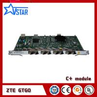 ZTE GPON OLT 8 ports Sevice board GTGO with 8 SFP C+ modules