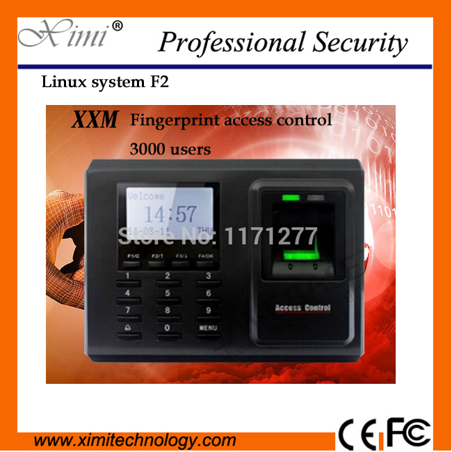 Linux system good quality TCP/IP USB F2 fingerprint access control with time attendance linux lux