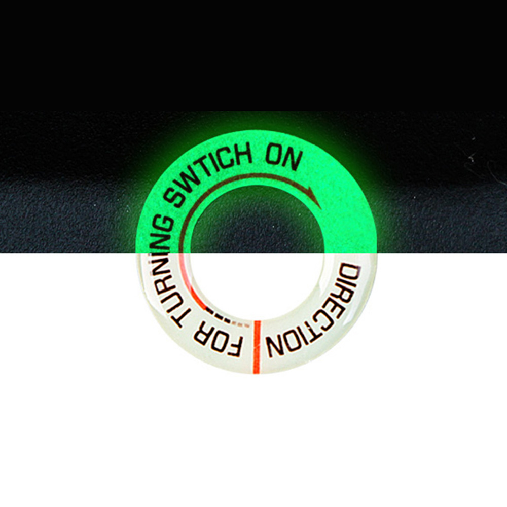 Motorcycle Glow Key Ring Hole Sticker Motorbike Car Lumunous Ignition Switch Sticker Decal Circle Light Decoration Universal