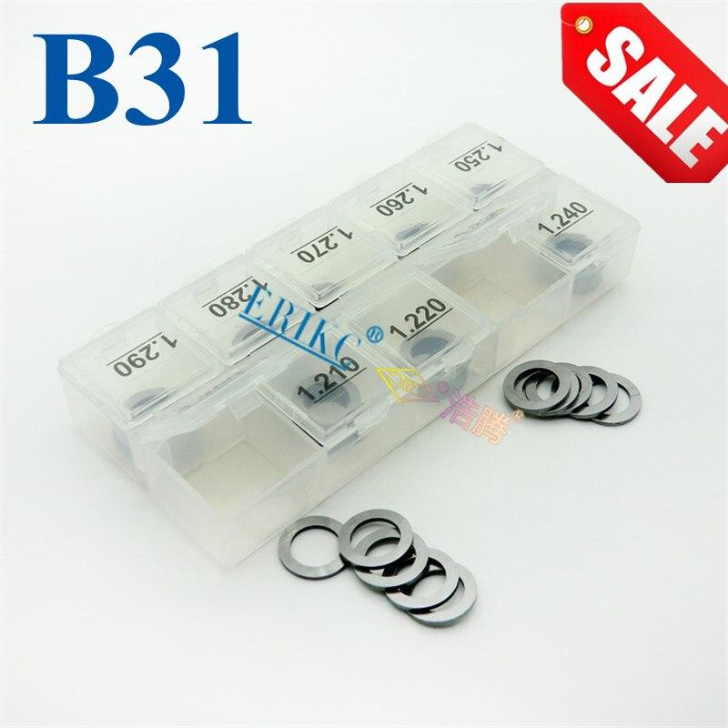 ERIKC Dichtungen B31 größe: 1,20mm-1,29mm Diesel Injektor Washer und Heißer verkauf Fuel Injection Shim Kits Verschiedene Arten von Dichtung