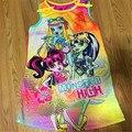 2017 Nuevas Niñas Monster High Vestido de Fiesta de Los Niños Monster Ropa de las muchachas Nunca Después de Vestido de La Muchacha Ropa de 6-14Y cumpleaños