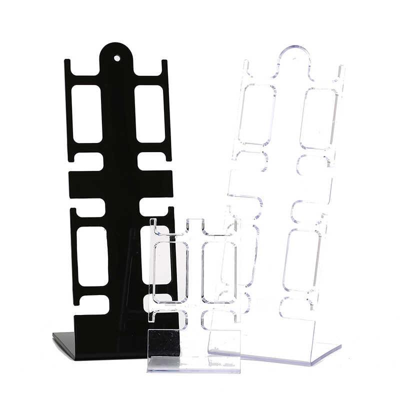 Estante de plástico estante de exhibición General estante PortableWatch caja de almacenamiento soporte para presentación de joyería estante de exhibición de 2 soportes