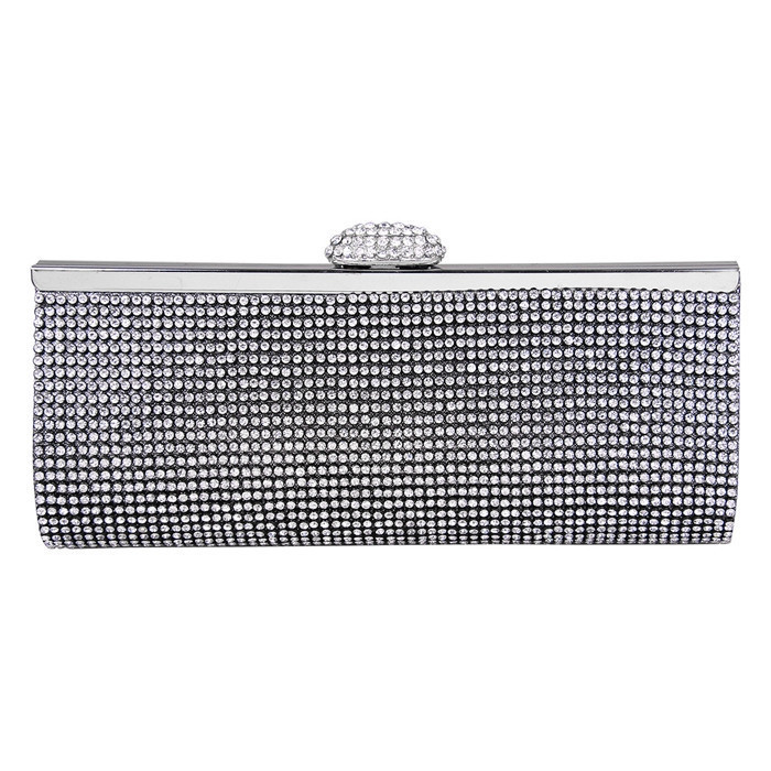 ECOSUSI New Sophisticated Crystals Evening Bag Rhinestones Clasp Flap Women  Clutch Bags Baguette Wallets wholesale Purse Party 947d59c4a25a6