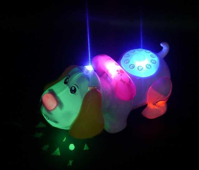 Light Emitting Projection Electric Universal Dog with Projection Music Electric Cartoon Dog, Children Toy Electronic Pet Dog