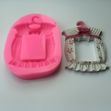 Kitchen Baking Sugarcraft Tool Classical Frame with Lovely Flower Border Decorations and Cake Chocolate Mold