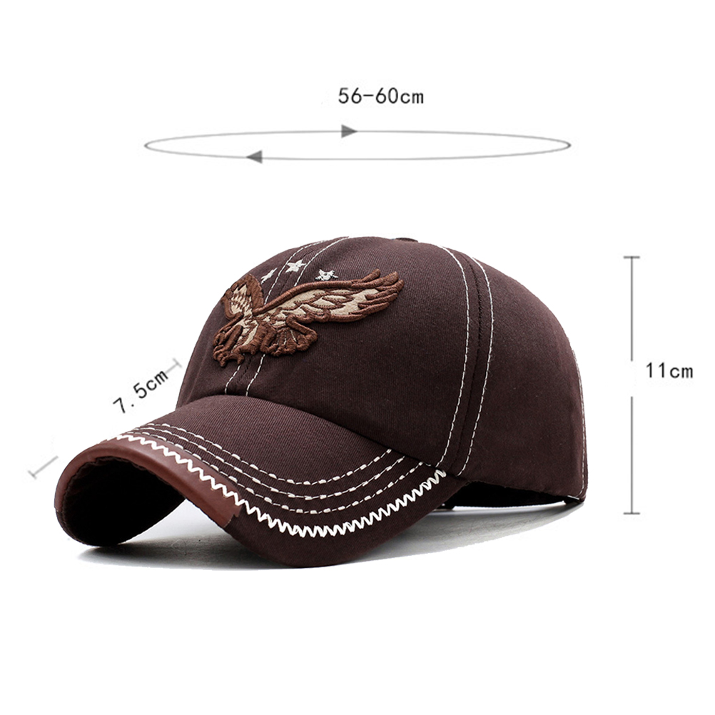 HTB1H6jie3aH3KVjSZFjq6AFWpXaC - New 3D Eagle Embroidery Baseball Cap Male Cap Hip Hop Flat Along Snapback Hats Baseball Cap Lovers Cap For Men & Women #30
