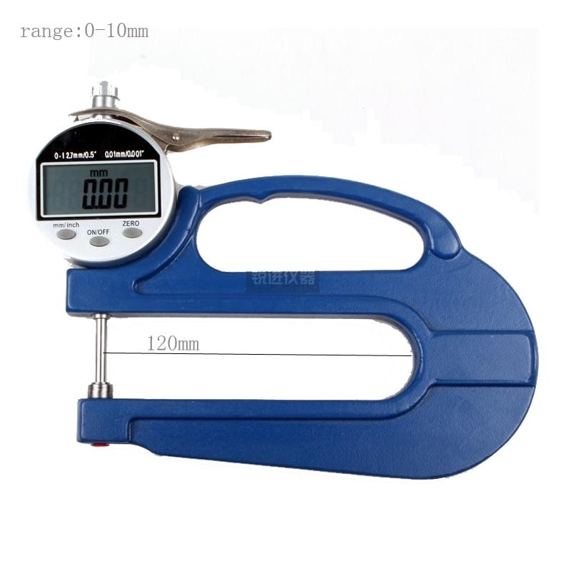 Thickness Gauge / range 0-10 / Depth 120mm Division value: 0.01mm Long Span Digital Thickness gauge  thickness gauge deep throat measuring caliper 0 10 120mm depth