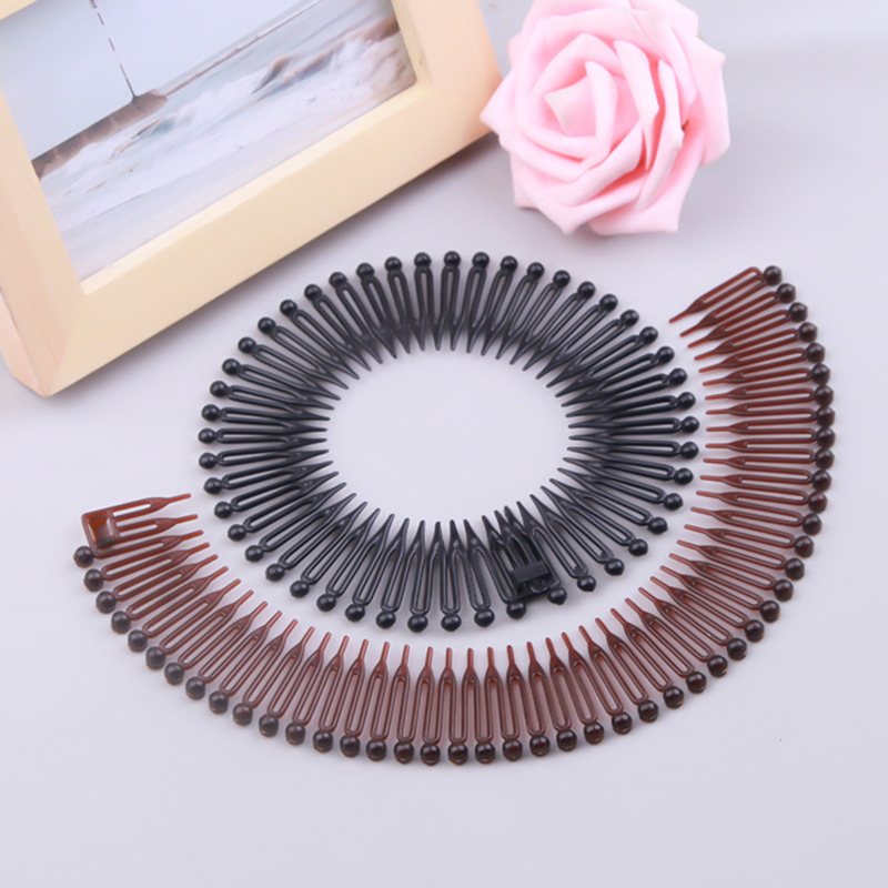 1 PCS Plastic Full Circle Stretch Diamond Flexible Comb Teeth Headband Hair Band Clip Face Wash Fixed Hair Accessories
