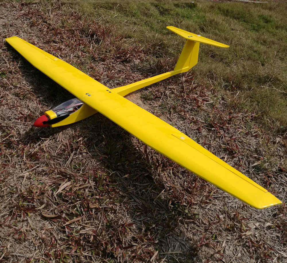 1550mm diy balsa rc glider kit yellow or white optional dbrgk01  [ 1000 x 917 Pixel ]