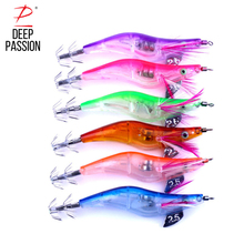 DEEP PASSION 6PC Electronic Shrimp Sea Fishing Lure Kit Flash Night Fishing Bite Lure Set Fly Fishing Tackle Artificial Bait