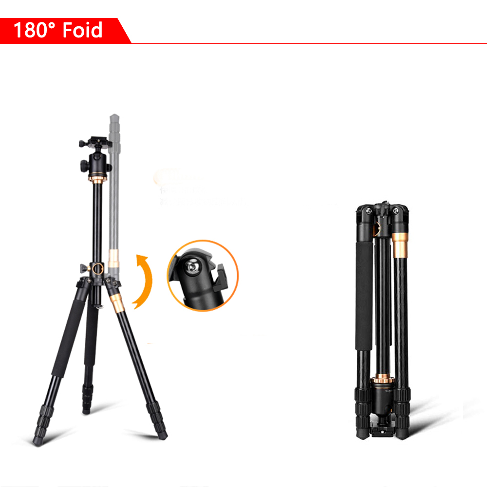 Image 4 - SAMTIAN Professional Portable Camera Tripod 61 inch Portable Travel Trip System Horizontal Tripod for Canon Nikon Sony DSLR SLR-in Tripods from Consumer Electronics