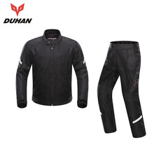 New DUHAN Summer Breathable Motorcycle Kits Protective Jacket +pants Motocross Riding Jackets & Pants Suits Motor Sets