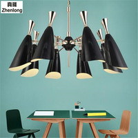Mordern Nordic Retro Bulb Light Chandelier Adjustable DIY E27 Art Aluminium Pendant Living Room Restaurant Cafe