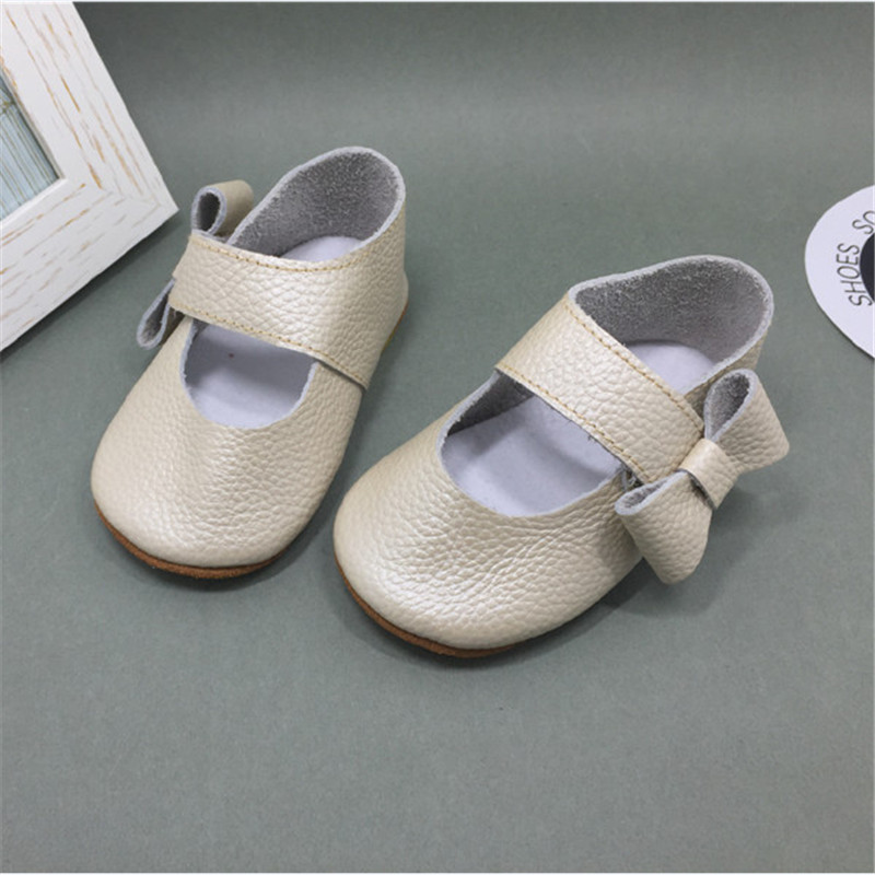 Lovely Bow Baby Girl Shoes Genuine Leather Soft Sole Infant Kids Girls Princess Shoes First Walkers Lovely Sneakers Sapato