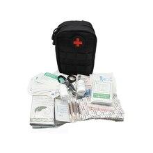 Kit de primeros auxilios para viajes Kit de primeros auxilios militar para supervivencia, Kit de primeros auxilios para viajes, Camping y exteriores, 103 Uds. Molle