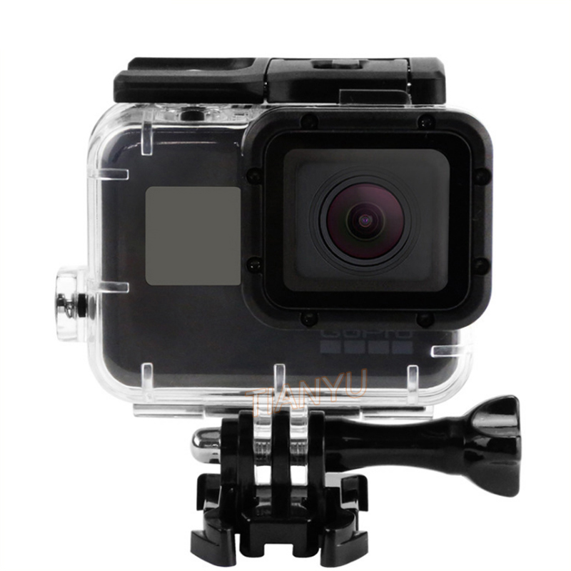 цена на SHOOT for Gopro Hero 5 Waterproof Housing Case Under Water 45M Diving Mounting Camera Case with Lens Cap Go pro Accessories