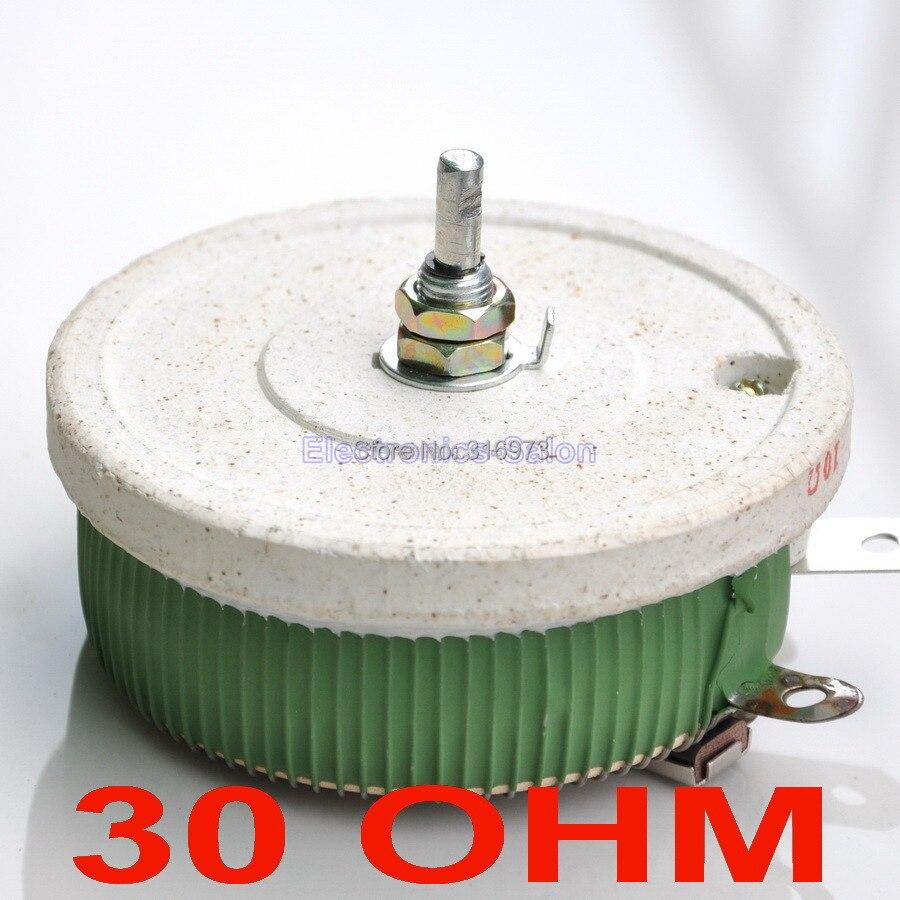 Potentiomètre bobiné haute puissance 200 W 30 ohms, rhéostat, résistance Variable, 200 Watts.