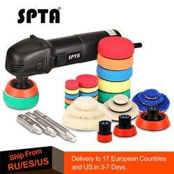 SPTA 3 полировальная машина, Мини Автомобильный орбитальный полировщик для дома, DIY авто микро роторный полировщик с 29 шт. набор автомобильных...