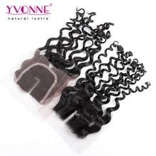 Italian Curly Human Hair Closure,Top Quality Middle Parting Brazilian Virgin Hair Closure 4×4,Aliexpress YVONNE Hair,Color 1B