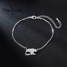 Todorova Cute Bear Pendant Bracelets for Women Everyday Jewellery Animal Cut Out Charm Bracelet Femme Wedding Gift