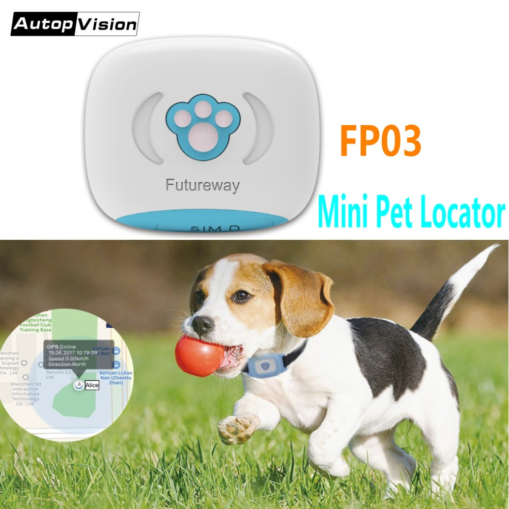 2018 Smallest Pet Locator FP03 Waterproof Mini GPS Tracker with Collar/Luminous case for Pets/Vehicle/Personal Free App tracking vjoycar small gsm gprs mini keychain gps tracker for kids pet camera bag bicycle senior car locator tracking free shipping