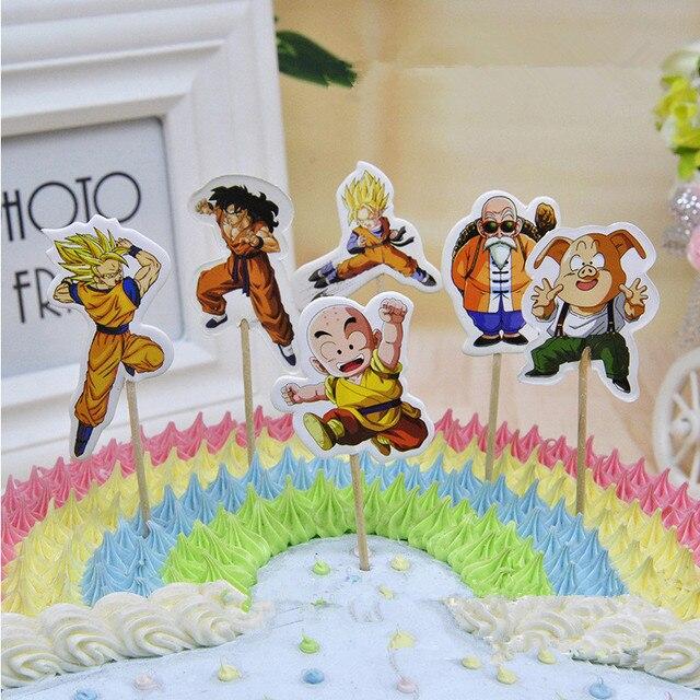 24 Pcs Anime Dragon Ball Master The Monkey King Candy Bar Cupcake