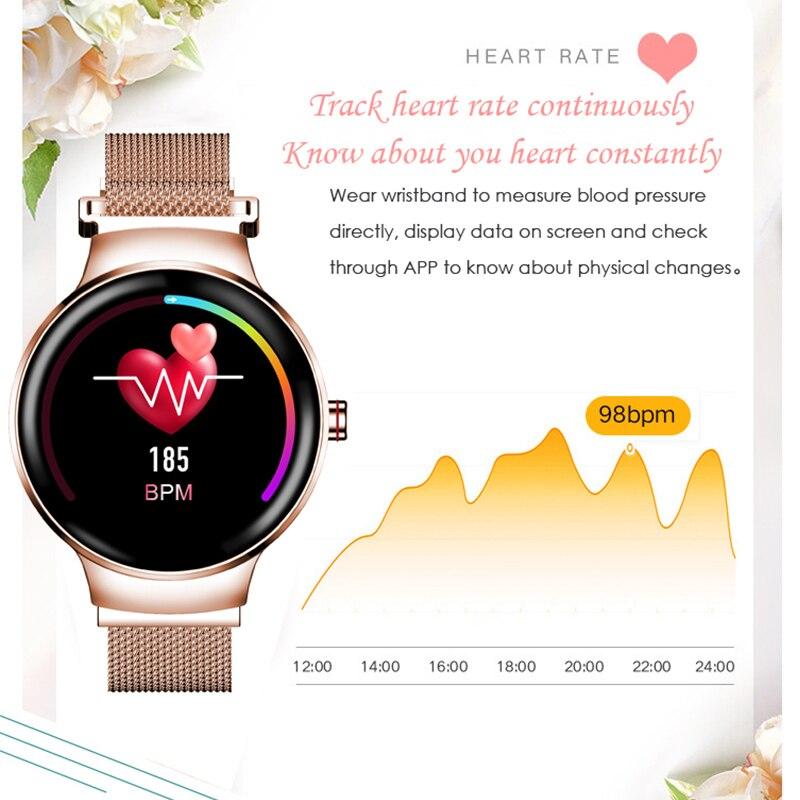 H5 Women Smart watch IP67 Waterproof Heart rate monitor Smartwatch Sports Fitness Tracker Woman ladies Girl