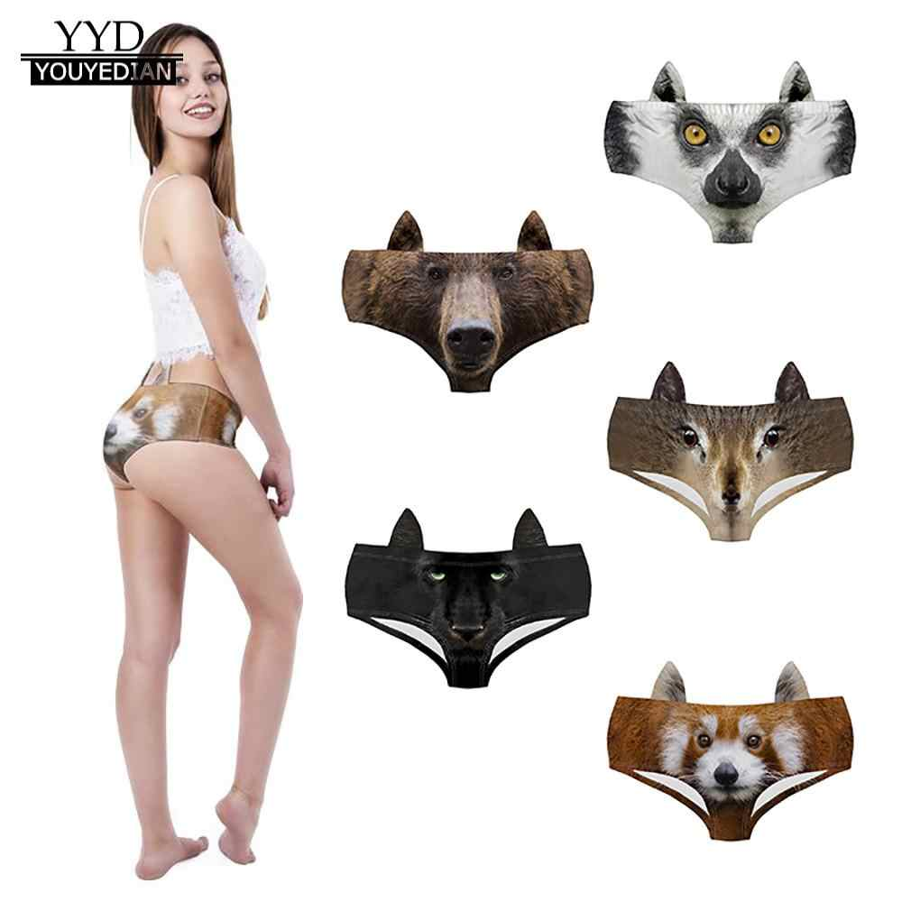 103190066 Detail Feedback Questions about Women Animal 3D Digital Printing Underwear  Comfort Knickers Breathable Sexy underwear bikini shorts ladies panty  lingerie ...