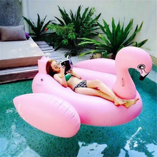 цена на 200cm Giant Inflatable Unicorn White Swan Flamingo Swimming float Pool Float Adult Children Water Party Toys Air Mattress boia