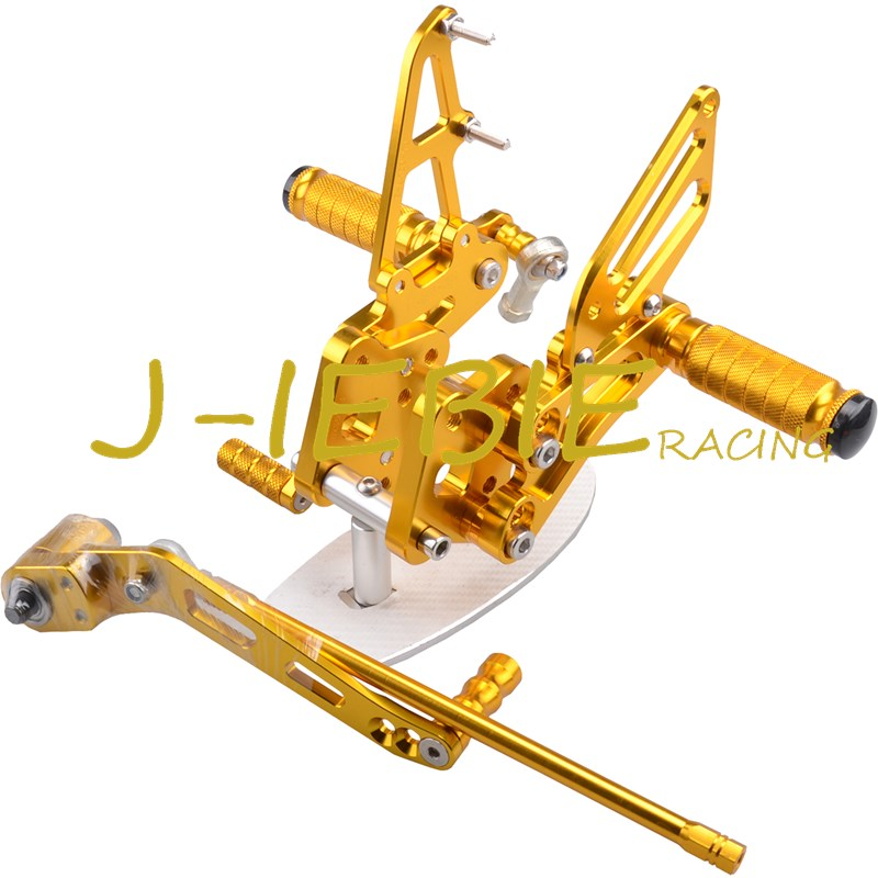 CNC Racing Rearset Adjustable Rear Sets Foot pegs For Suzuki GSXR 600 750 GSXR600 GSXR750 2006 2007 2008 2009 2010 K6 GOLD new motorcycle ram air intake tube duct for suzuki gsxr600 gsxr750 2006 2007 k6 abs plastic black