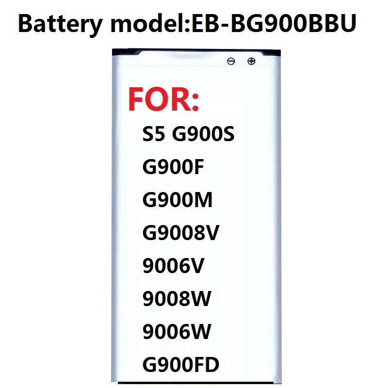 Аккумулятор для Samsung S5, G900S, G900F, G900M, G9008V, 9006 в, 9008 Вт, 9006 Вт, G900FD, 2800mA, NFC