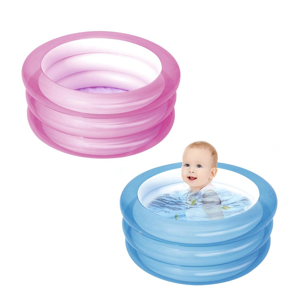 Baby Inflatable Swimming Pool Kids Toy Round Paddling Pool Ocean Ball Pools Easy To Inflate With 3 Separate Valves