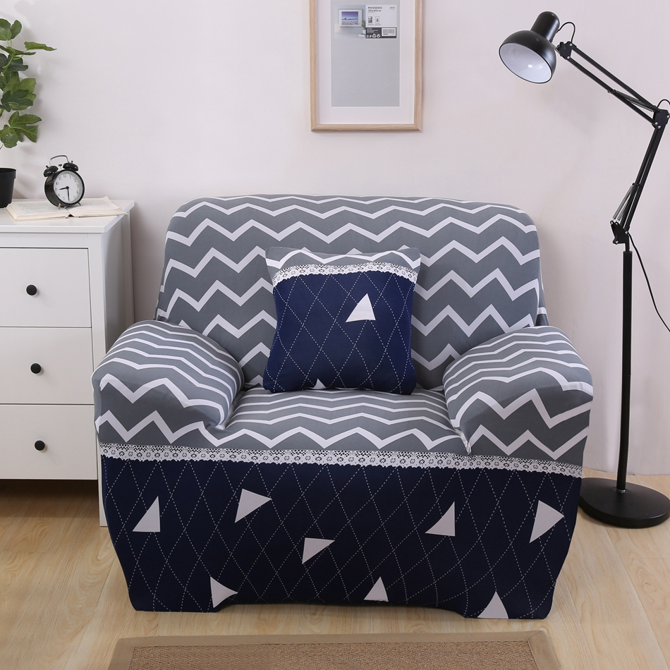 1 2 3 4 Seat Sectional Slipcovers Full Sofa Cover For Parlor Fabric Cover  Sofa Wave Triangle Print Sofa Covers For Living Room In Sofa Cover From  Home ...