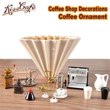Espresso Accessories Coffee Decorate Mini Milk Cup Tamper Grinder Ornament Cafe Gift Lovers Barista Model gift