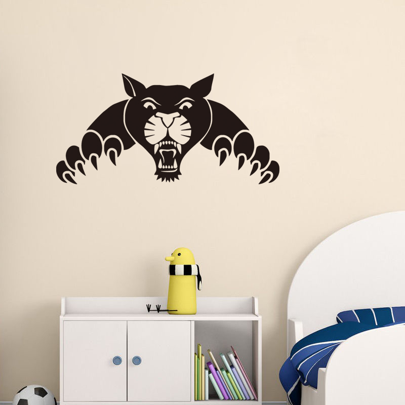 Panther Funny Wall Sticker Panther Playing Game Decals For Kids Room/Living Room Kitchen Sticker Bedroom Decals
