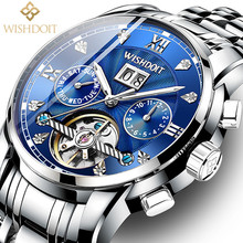 2019 New Mens Watches Top Brand Luxury Automatic Mechanical Watch Men Full Steel Business Waterproof Clock Relogio Masculino+Box guanqin 2018 men watch automatic business mens watches top brand luxury mechanical leather waterproof clock relogio masculino