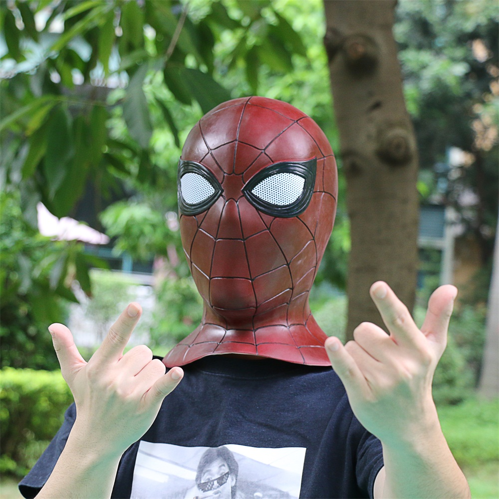 2018 Avengers 3 Infinity War Spiderman Mask Cosplay Iron Spiderman 3D Latex Mask (11)