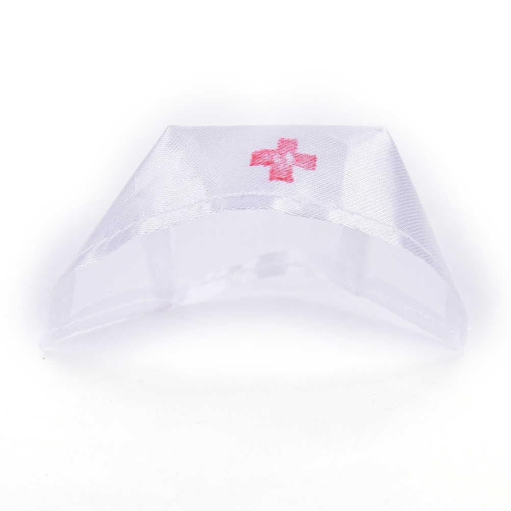 1 مجموعة جديد ألعاب الدمى الملابس موحدة + قبعة الوردي الأبيض الملاك الإناث ممرضة اللباس حتى اللعب ل دمية دمى تأثيري الفتيات الهدايا