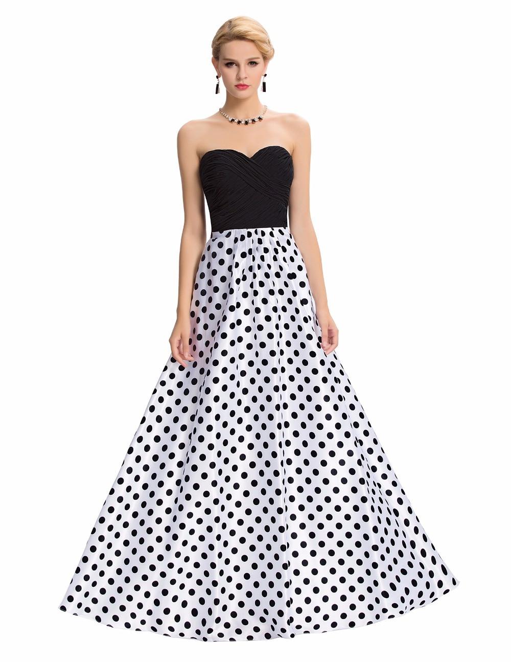 Polka Dot Prom Dresses Formal Dresses