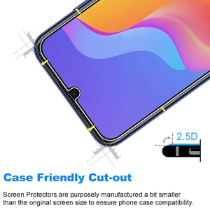 Image 2 - 5Pcs Tempered Glass For Huawei Honor 8A Screen Protector 9H 2.5D Phone On Protective Glass For Huawei Honor 8A Glass