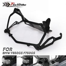 Para BMW F850GS F750GS Preto rede de proteção proteção do farol Da Motocicleta Farol farol tampa de liberação rápida