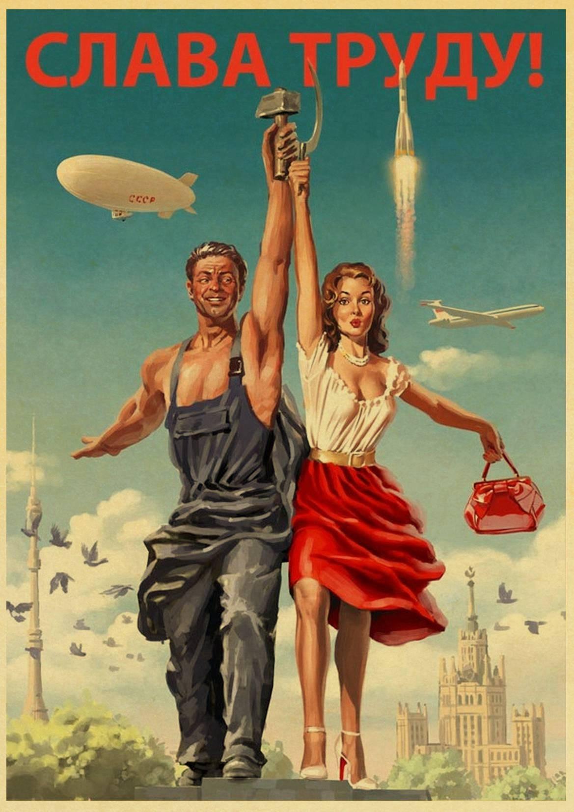 HTB1H6nqX6DuK1Rjy1zjq6zraFXaM Stalin USSR CCCP Retro Poster Good Quality Printed Wall Retro Posters For Home Bar Cafe Room Wall sticker