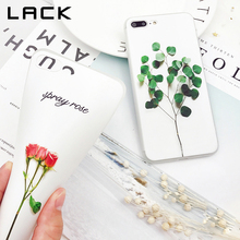 LACK 3D Relief Floral Phone Case For iphone 8 Case Cute Cartoon Plants Leaves Cases Slim Soft TPU Back Cover For iphone8 8 Plus
