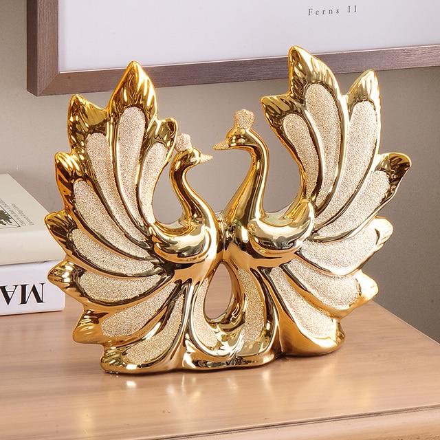 900c65639e5 Artigos de decoração Para Casa de luxo de Ouro-banhado a Sala de Estar de