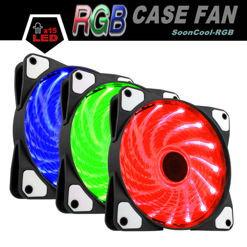 ALSEYE RGB fan cooler 120mm fan 12v for computer housing 1300RPM Multicolor Controllable Cooler Fans personal computer graphics cards fan cooler replacements fit for pc graphics cards cooling fan 12v 0 1a graphic fan